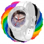 Montre photo personnalisable silicone