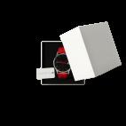 Montre personnalisable avec photo, bracelet cuir